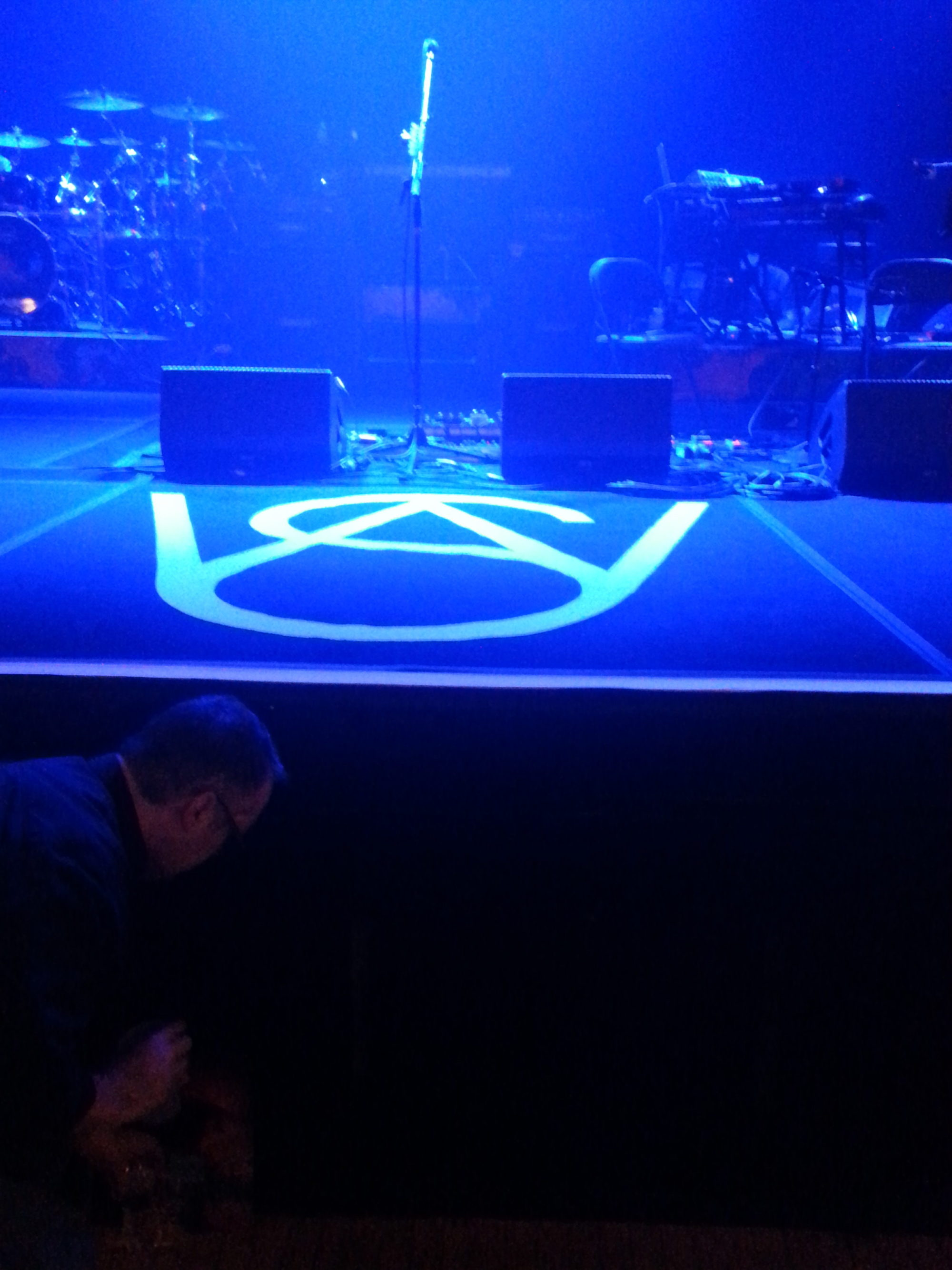 Photo of the stage, pre-show, taken by Chris